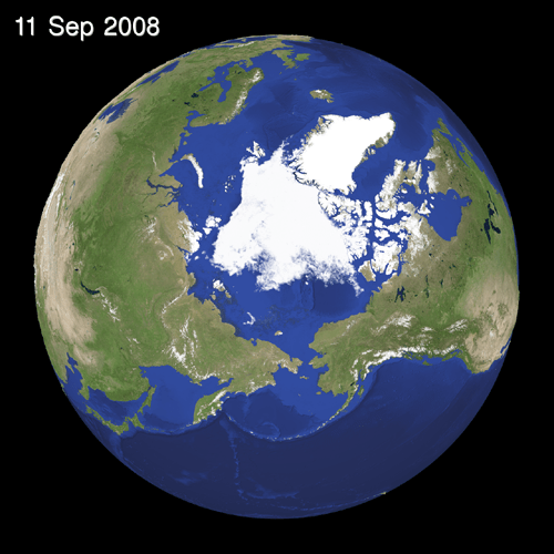 Ice condition over the Arctic Oceann(Analyzed by WNI Global Ice Center)