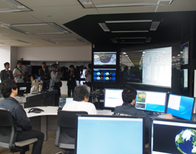 SVOC mission control at Weathernews Global Center