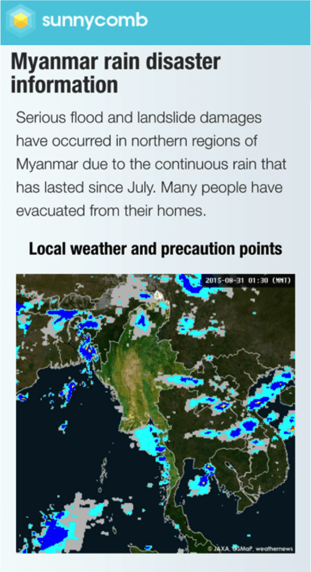 Rainfall conditions
